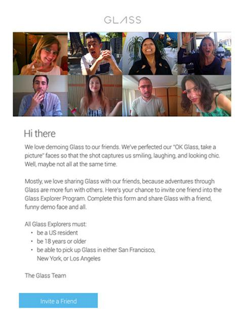 Screen Shots Google Glass Invite A Friend