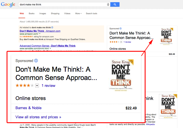 New Sponsored Google Knowledge Graph Results