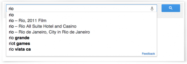 knowledge graph in search box
