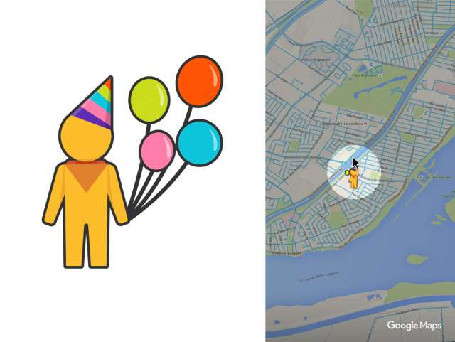 Google Maps Pegman Birthday click for full size