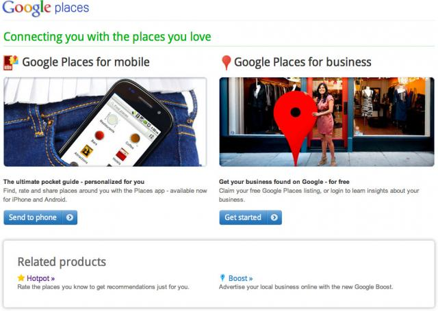 Google Places Home