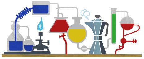 Robert Bunsen Google Logo