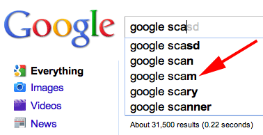 Google Instant Scams