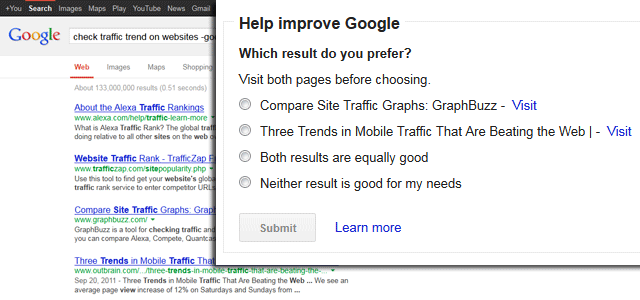 Google - Which Result Do You Prefer - click for full size