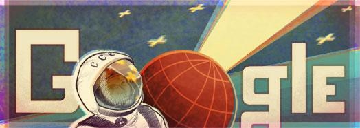 Yuri Gagarin Google Logo