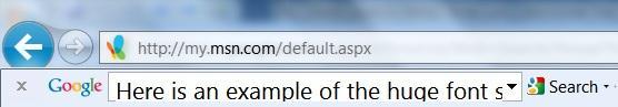 google toolbar font problem