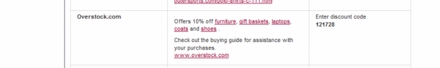 Overstock Email Link Request