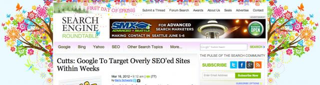 Search Engine Roundtable Spring Theme