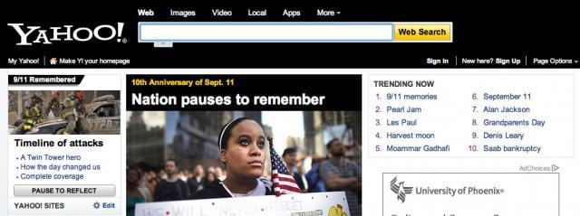 Yahoo 9/11 2011