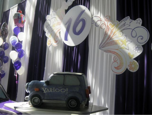 Yahoo's Birthday Cake