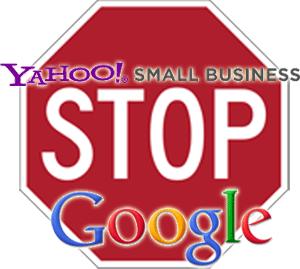 yahoo stopping google
