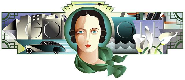 Tamara de Lempicka Google Logo