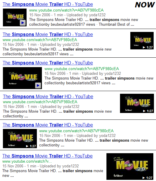 Google Video SERPs Test