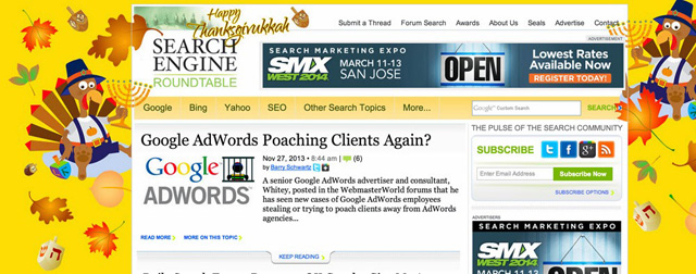 Search Engine Roundtable Thanksgivukkah