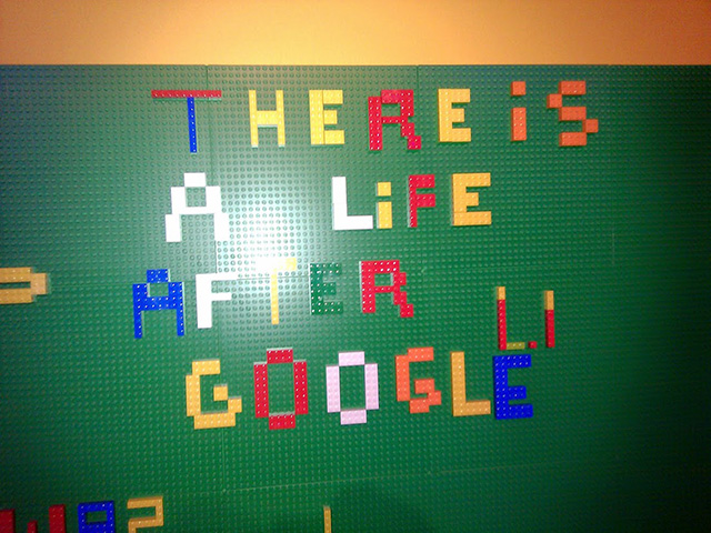 There Is Life After Google Lego Sign