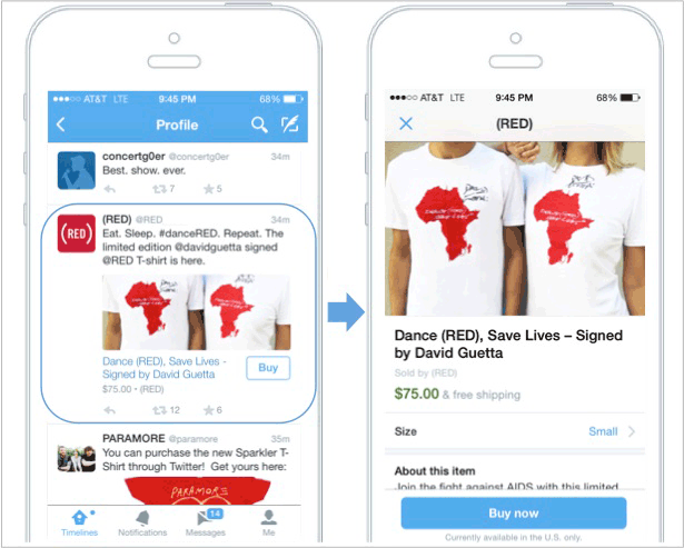 Twitter With Buy Buttons