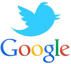 Twitter & Google Logo