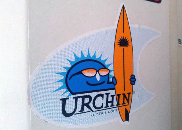 Urchin Surfboard Sticker