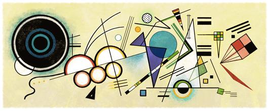 Wassily Kandinsky Google Logo