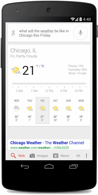 Ask Google The Weather