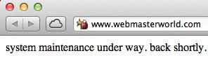 WebmasterWorld Offline