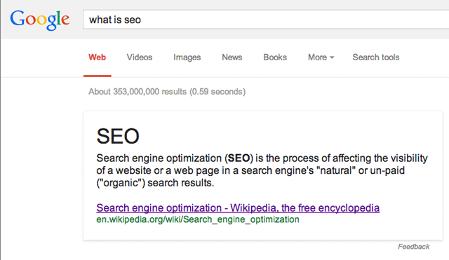 what is seo google wikipedia