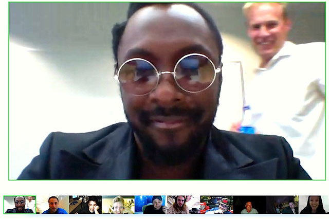 Will.i.am Doing A Google + Hangout
