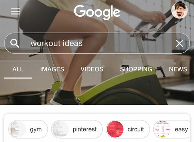 A Pesquisa do Google testa cabeçalhos personalizados com base em consulta 8