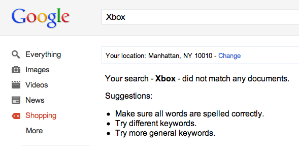 Google Product Search XBox