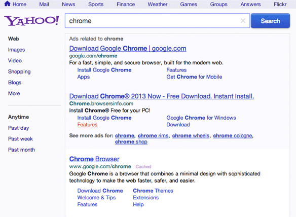 Blue Backgrounds Yahoo Search Ads