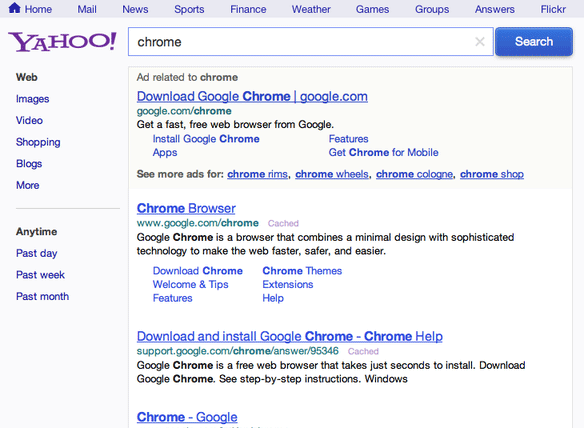 Yahoo Tests Green Green Ads