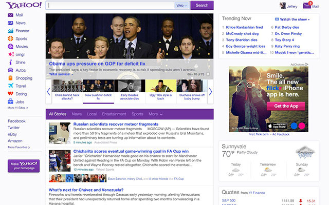 Yahoo New Home Page