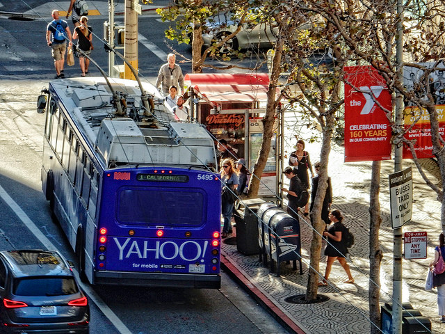 Purple Yahoo Cable Car