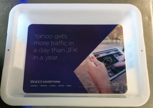 JFK Security Bins With Yahoo Ads