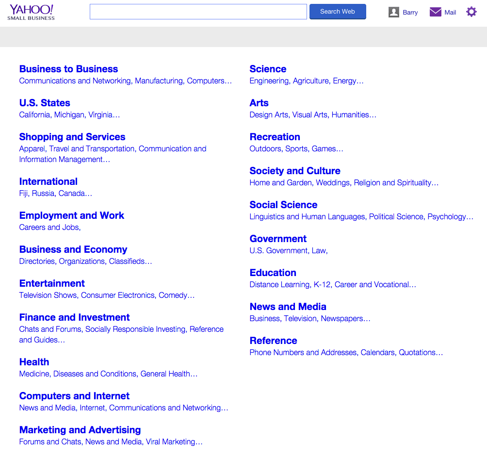 yahoo directory goes offline redirects to yahoo small business click for full size