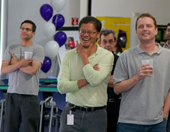 Jerry Yang, David Filo and Bradley Horowitz