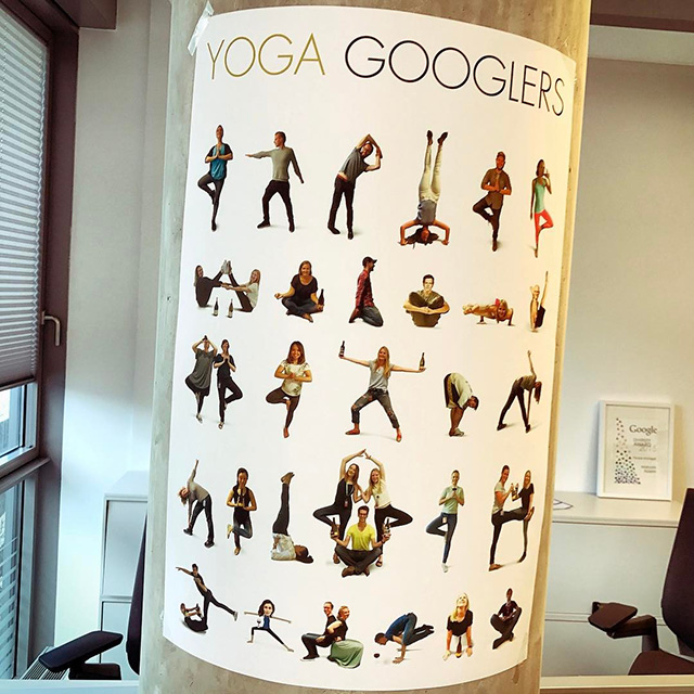 Yoga Poster At Google