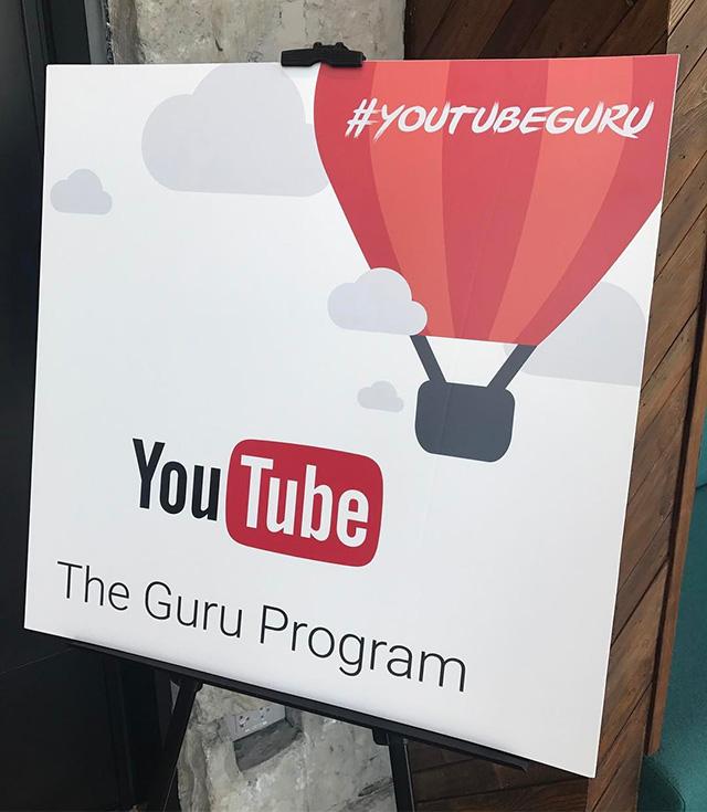 YouTube Guru Program Event Sign
