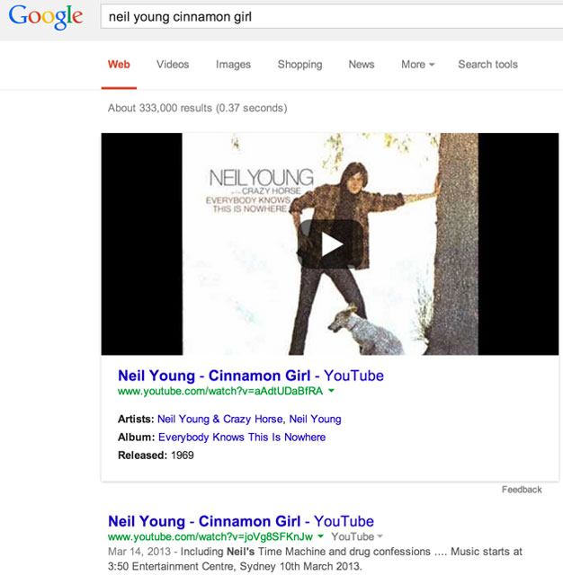 YouTube Videos Directly In Google's Search Results