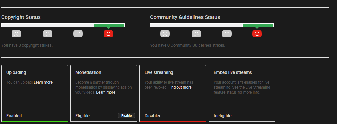 Live Streaming Disabled For Many YouTube Creators