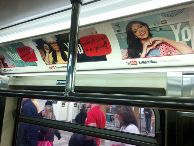 NYC Subway Ads For YouTube