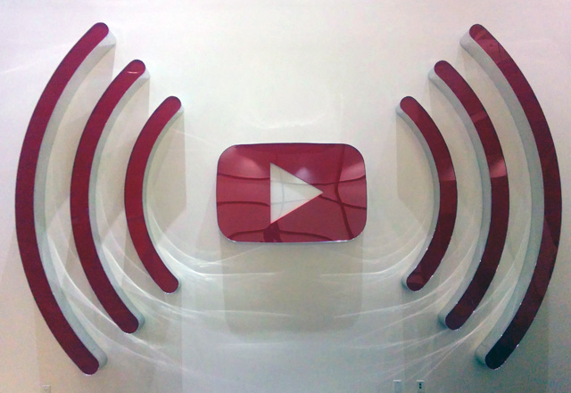 YouTube Play Logo Sign