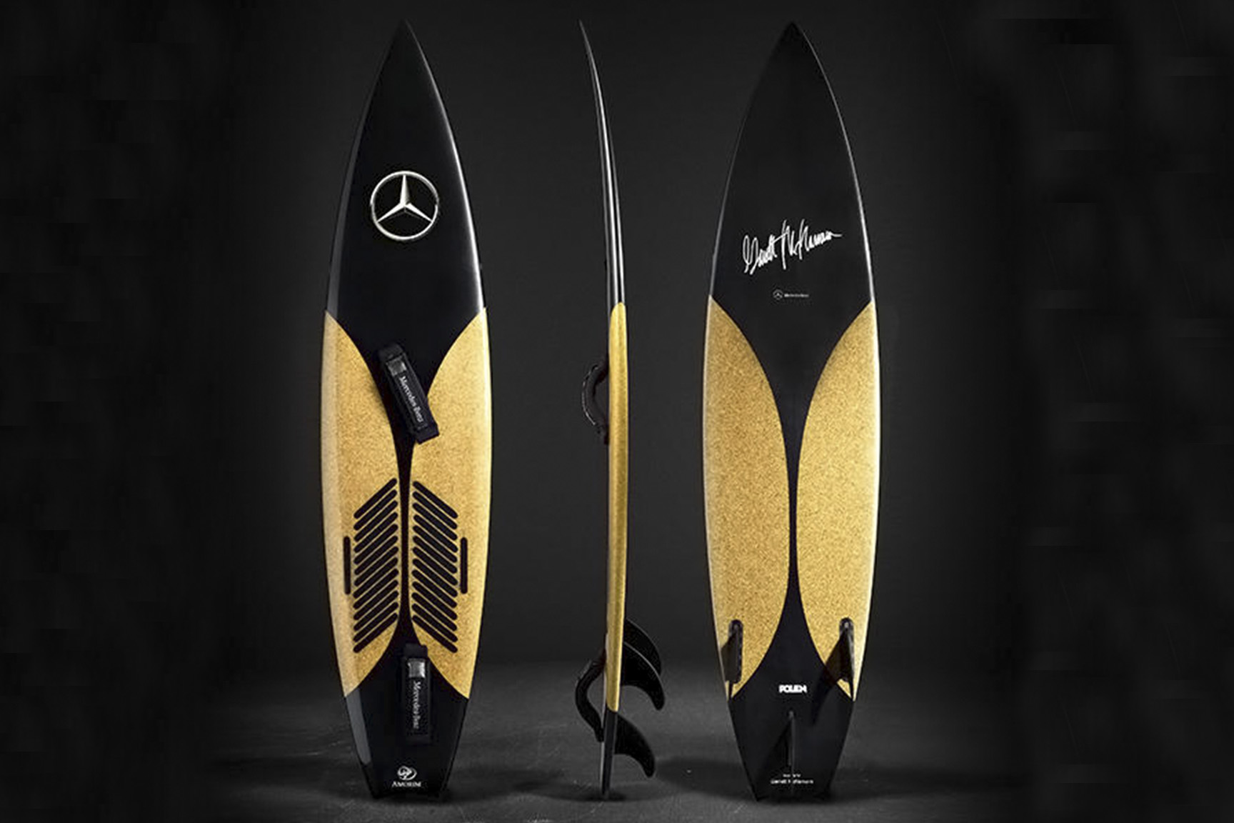 MERCEDES CORK SURFBOARD BY POLEN & AMORIM