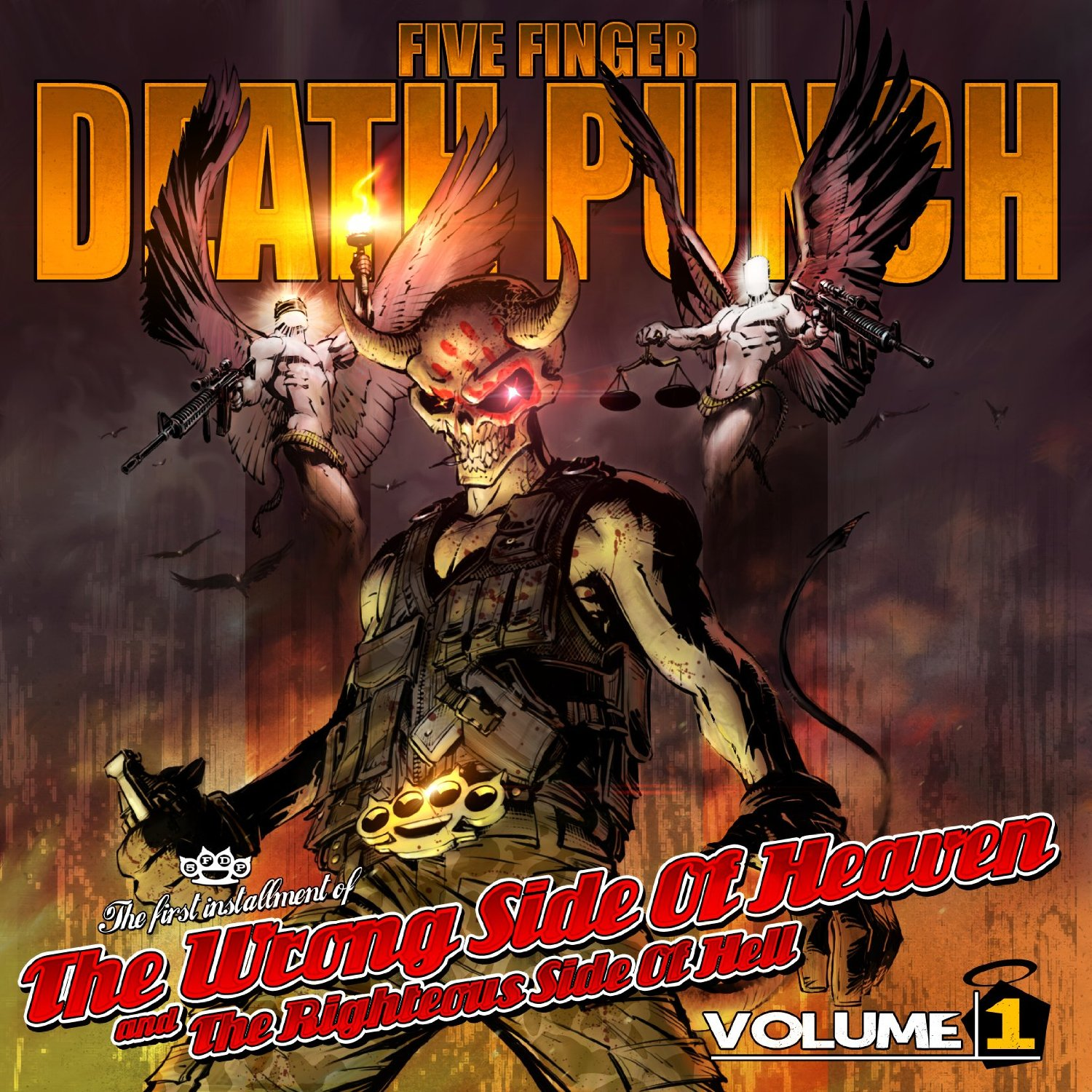 Five Finger Death Punch Wrong Side Of Heaven cover art