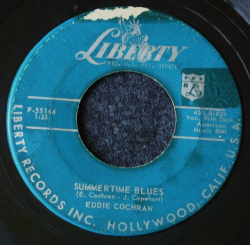 Eddie Cochran Summertime Blues cover art