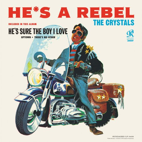 The Crystals He's A Rebel cover art