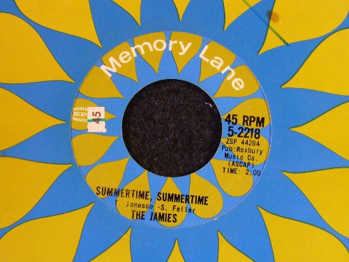 The Jamies Summertime, Summertime cover art