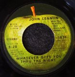 Whatever Gets You Through The Night sheet music by John Lennon