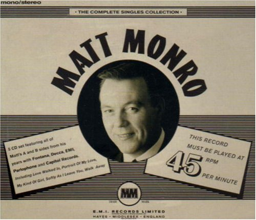 Matt Monro All Of A Sudden cover art