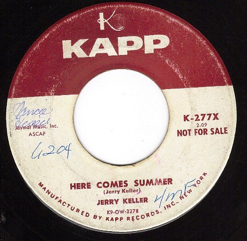 Jerry Keller Here Comes Summer cover art